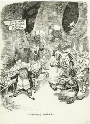 Children's / imaginative Illustrations: E H Shepard - Gobbling Market