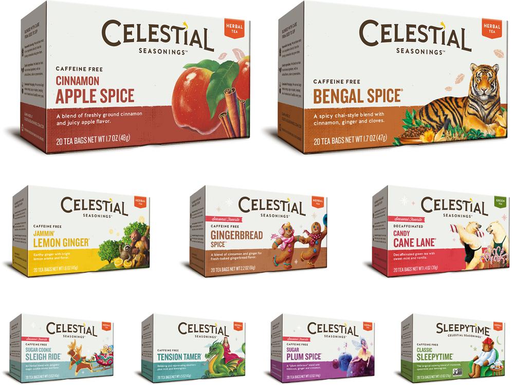 Brand New: New Logo and Packaging for Celestial Seasonings