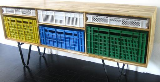 Mauricio Arruda et son meuble cagette José - Le Blog Retro Futur