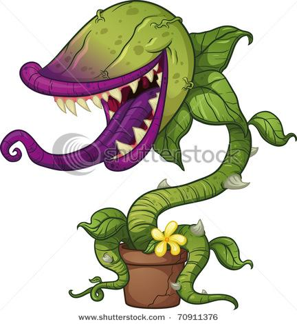 Cartoon Carnivorous Plant. Vector Illustration With Simple Gradients. All In A Single Layer. - 70911376 : Shutterstock