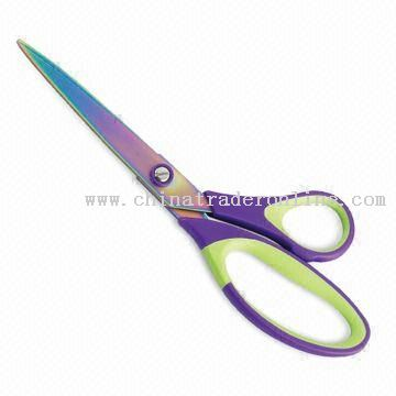 stationery-scissors-with-colorful-titanium-coating-18251147772.jpg (360×360)