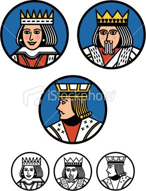 King, Queen and Jack Buttons | Stock Illustration | iStock