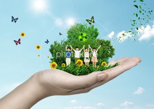 Child Butterfly Tree Flower | Stock Illustration | Photokore
