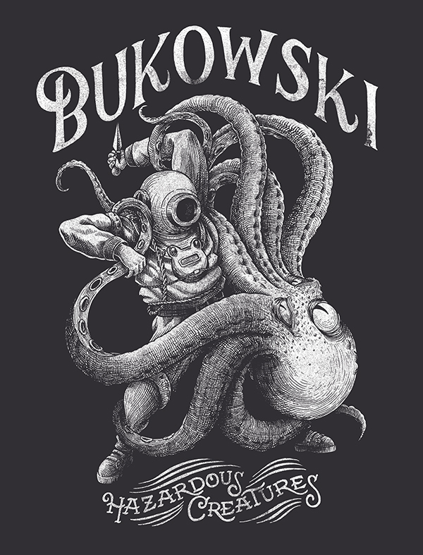 T-shirt design for the french band BUKOWSKI on Inspirationde