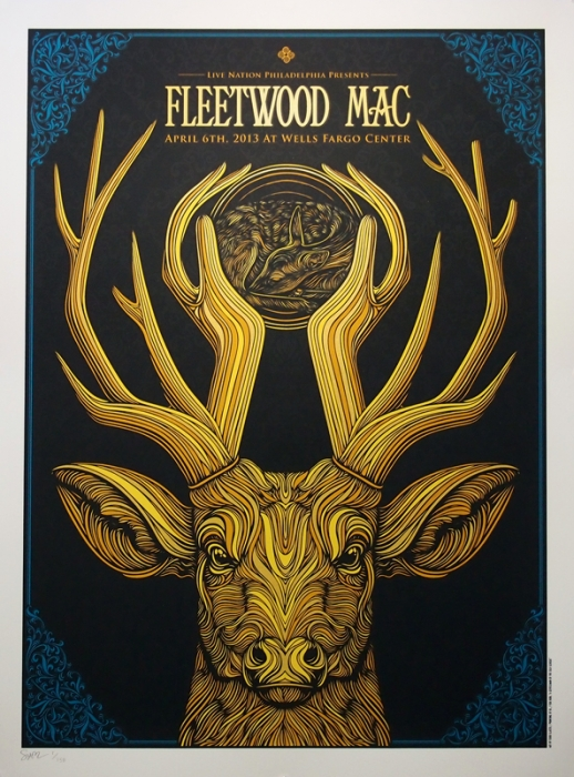 Todd Slater's Fleetwood Mac Poster on Inspirationde