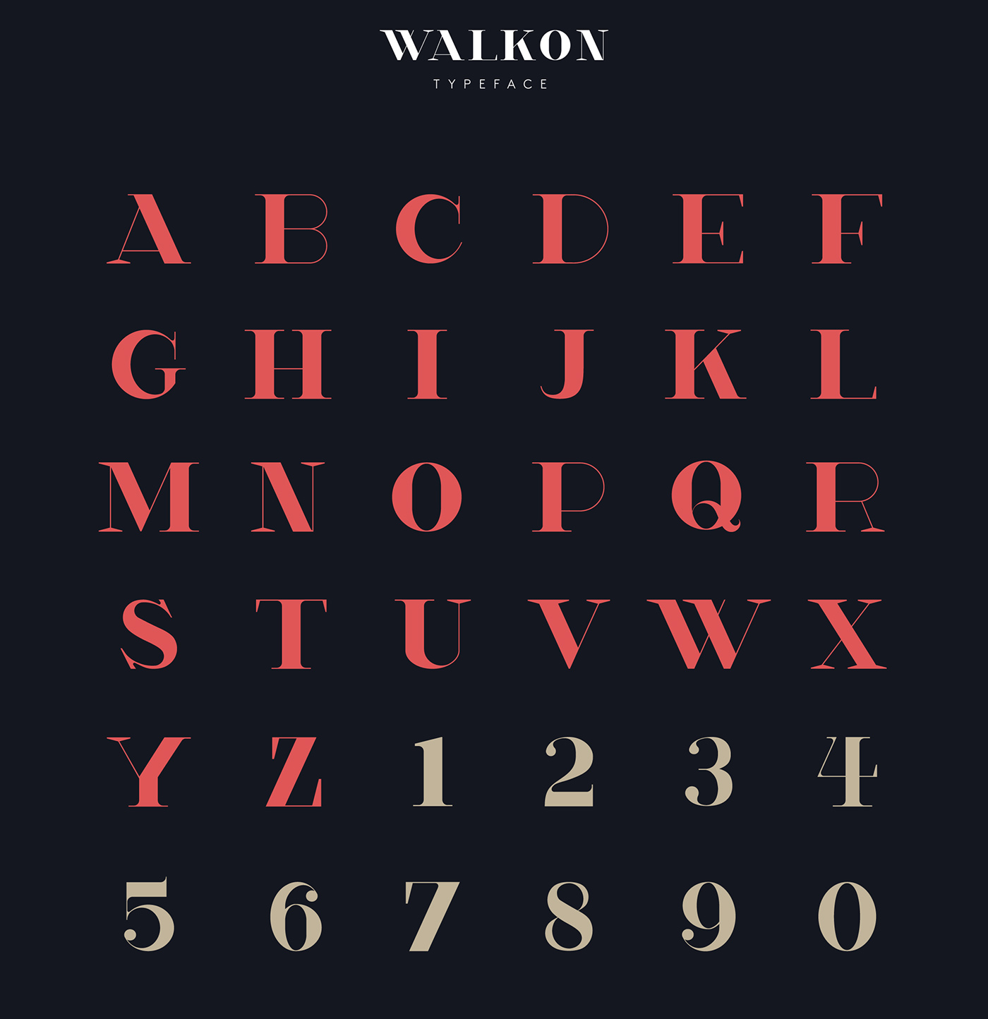 WalkOn - Typeface on