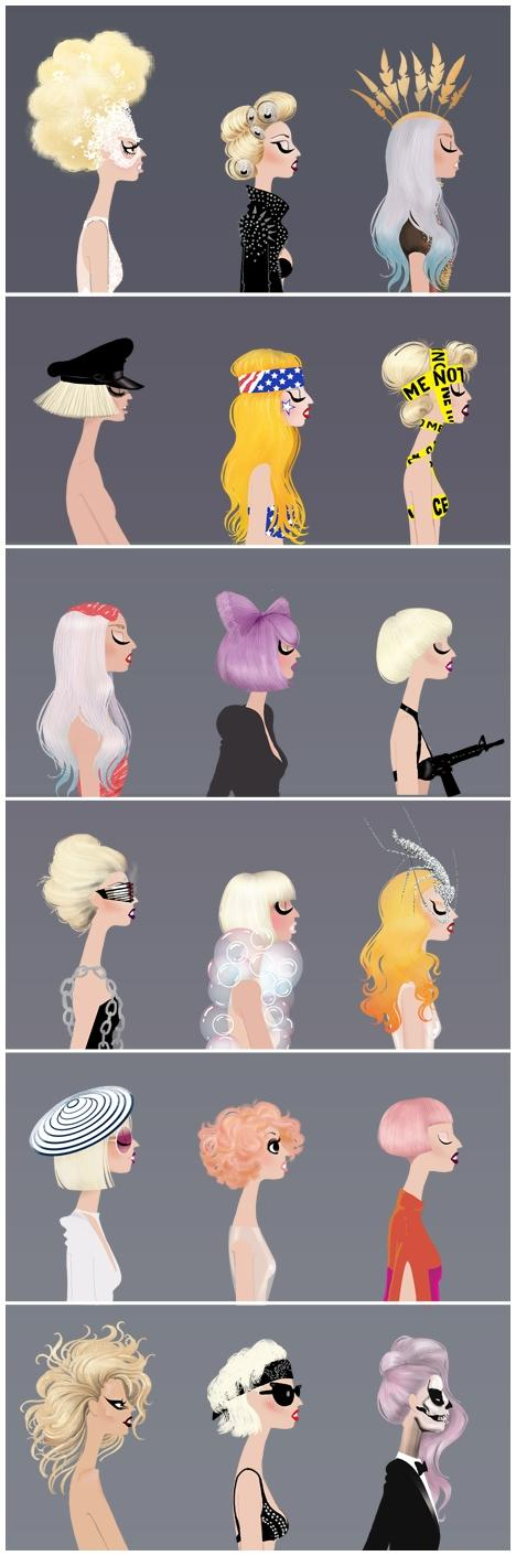GaGa-Licious (Lady Gaga Illustrations) by Adrian Valencia | Who Designed It?