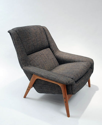 vintage lounge chair folk ohlsson danish modern. Black Bedroom Furniture Sets. Home Design Ideas