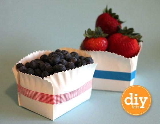 Sarah Hearts - DIY Paper Plate Basket Tutorial - Daily Design Inspiration