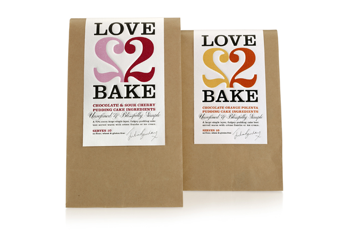 Love 2 Bake  - TheDieline.com - Package Design Blog