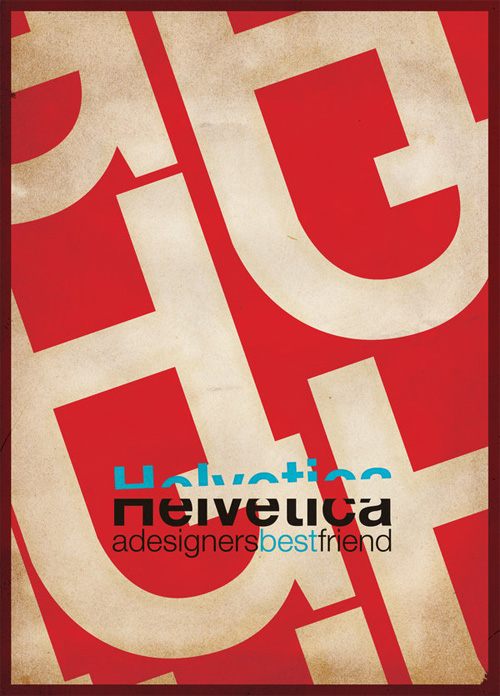 20 Piping Hot Helvetica Based Typographic Posters | The Inspiration Blog