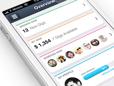 New iPhone app design | Dashboard UI,UX interface by Justalab (via Julien Renvoye)