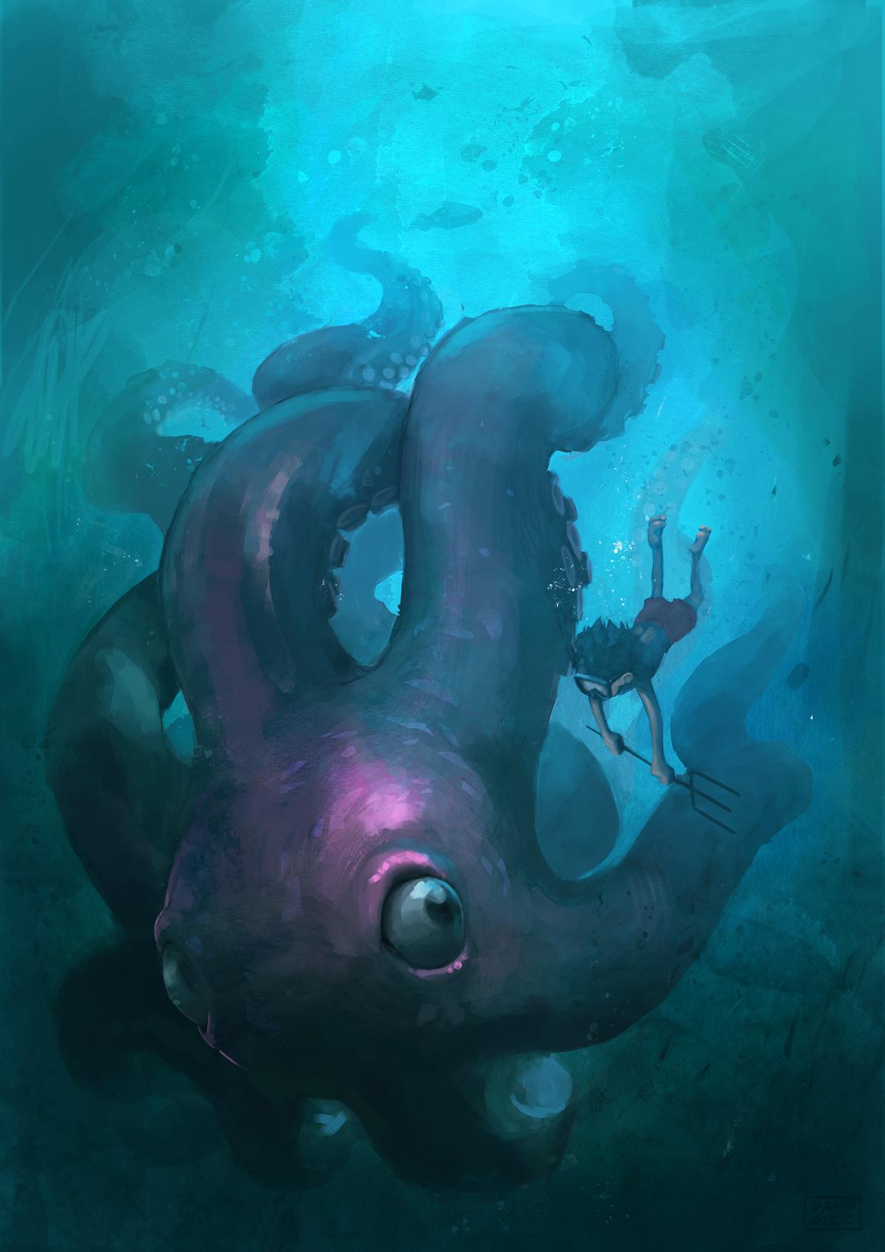 Octopus on