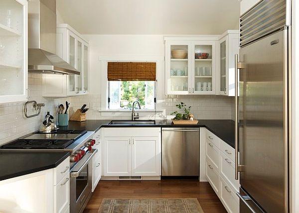 U shape small kitchen ideas photo #190 - Kosty Designs