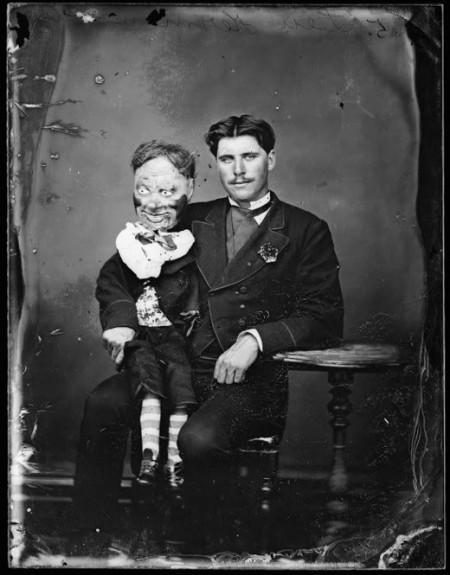 Oooo, portentous! / Vaudeville Ventriloquist Dummy Portraits | jwz
