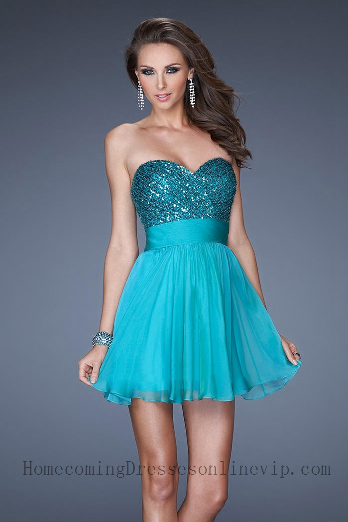 Cheap Strapless Sequined Bodice Short Cocktail Dresses 8506R8 ...