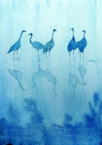 I've got the Blues / Cranes in the blue moonlight...
