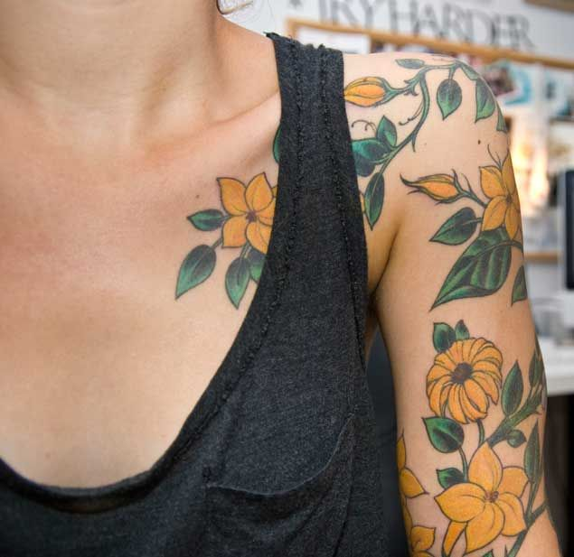 30 Fabulous Floral Sleeve Tattoos for Women | Tatua?e Kobiet