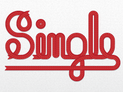 Single Path Font by Ryan Putnam
