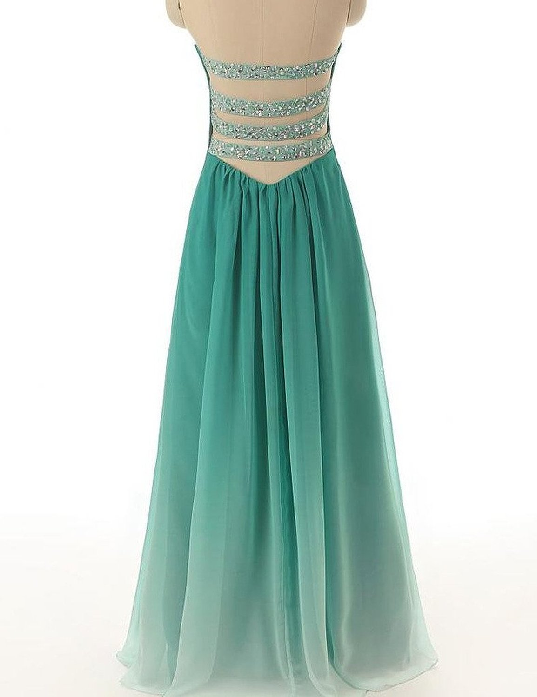 JAEDEN Women\'s Gradient Chiffon Long Formal Evening Dress Prom Gown ...