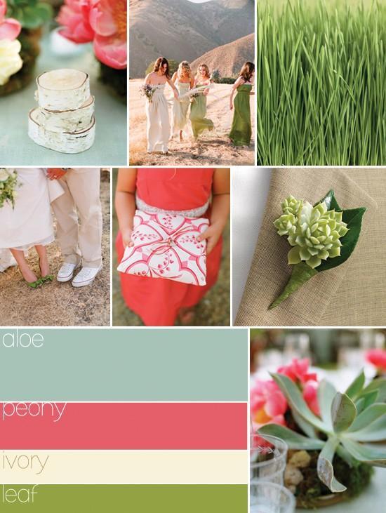 Easter Saturday / Spring wedding colour palettte