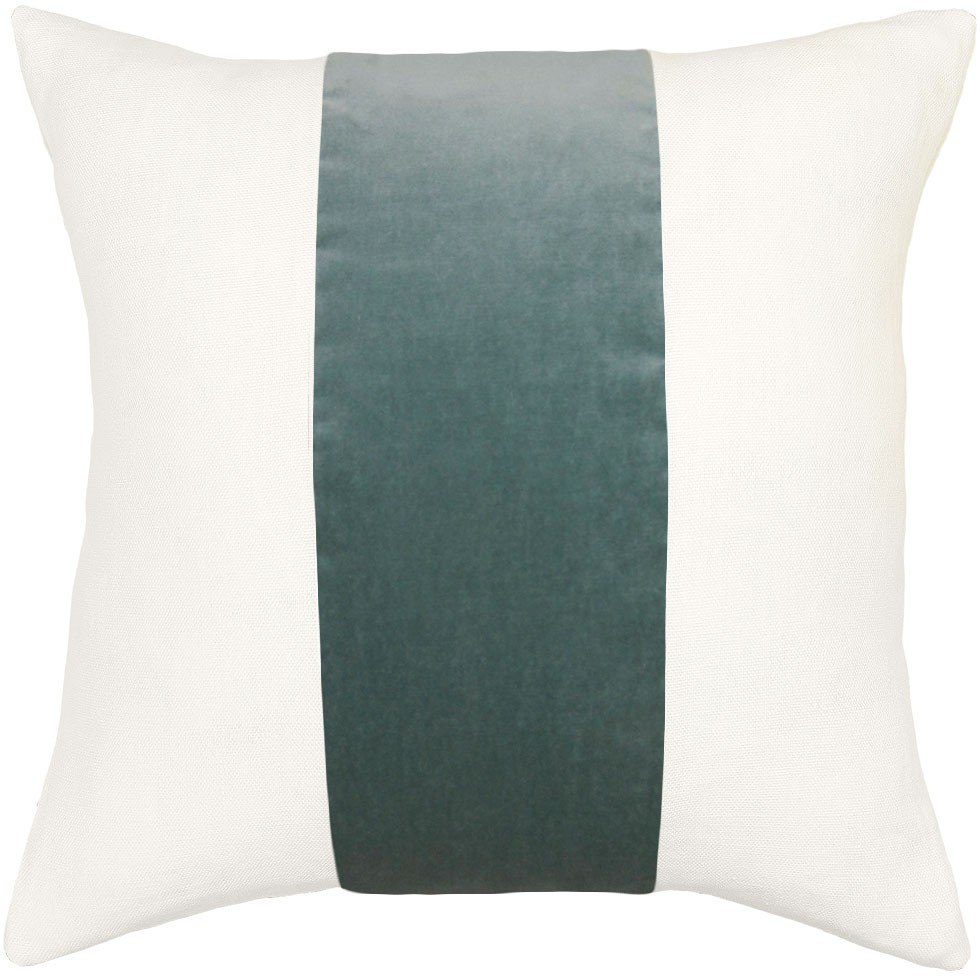 Square Feathers Home Ming Pillow - Stone | Pillows | Decor | Candelabra, Inc.