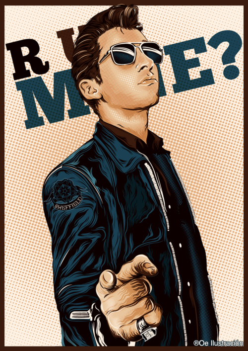 ARCTIC MONKEYS US, oe-ilustracion: Alex Turner - R U Mine? Digital...