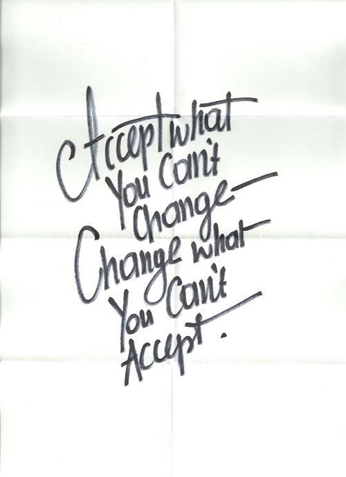 Just sayin' / Acceptance