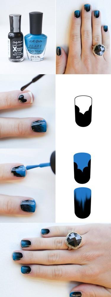 Idee DIY / Fade to Black paznokci
