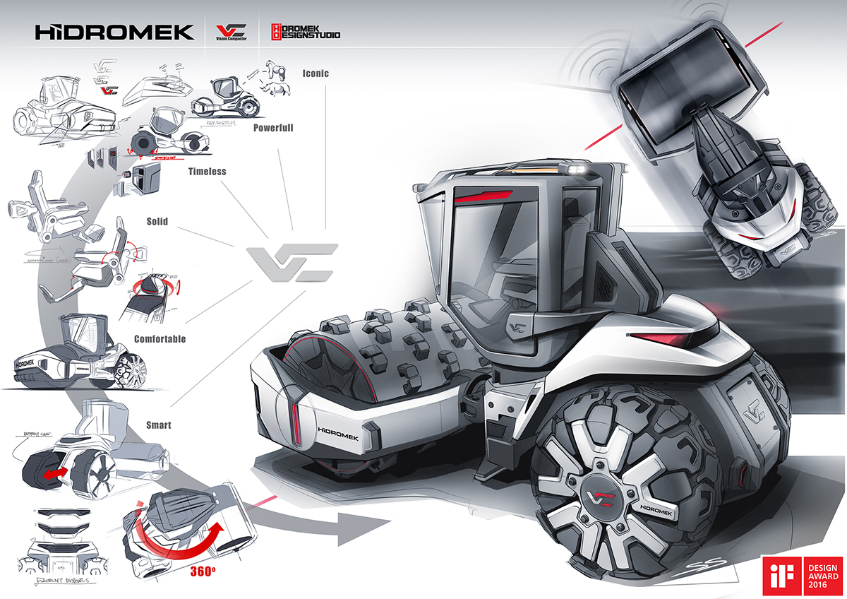 Hidromek Vision Compactor on