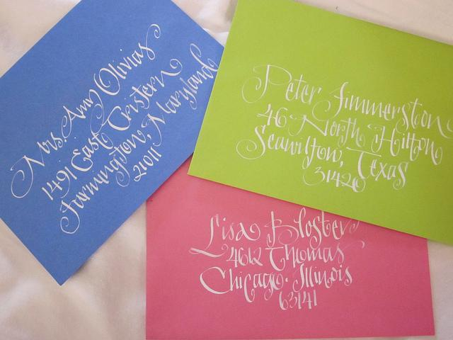 wedding calligraphy samples | Flickr - Photo Sharing!