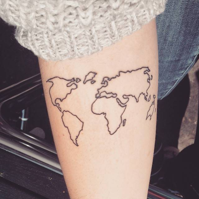 World map tattoo on the forearm 565108 on wookmark world map tattoo on the forearm gumiabroncs Image collections