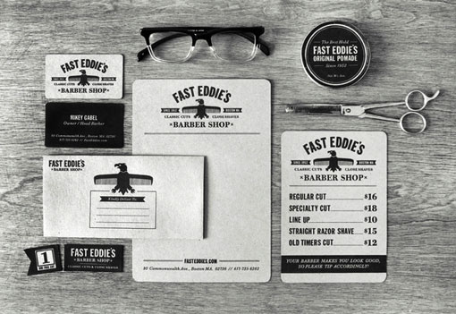 design work life » Richard Arthur Stewart: Fast Eddie's Barber Shop