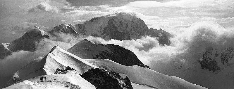 Mont Blanc from the Domes de Miage - Photograph at BetterPhoto.com