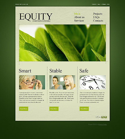 Equity Business CSS Website Template - Flashmint 267