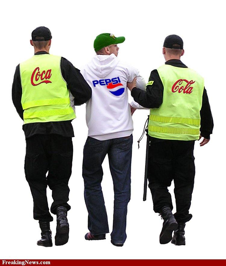 Coca-Cola arrests Pepsi Pictures - Strange Coca-Cola arrests Pepsi Pics
