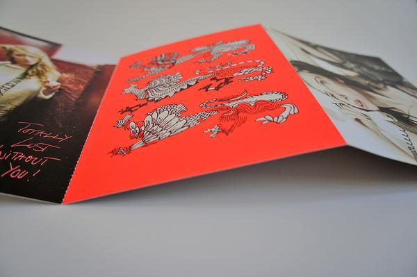 GEORGE GINA & LUCY / Postcard Leporello