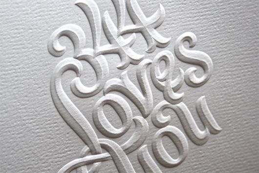 Designspiration — Embossed Letting