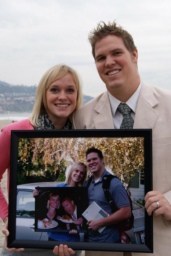 Good idea / Every anniversary take a picture of you holding a picture from the year before.