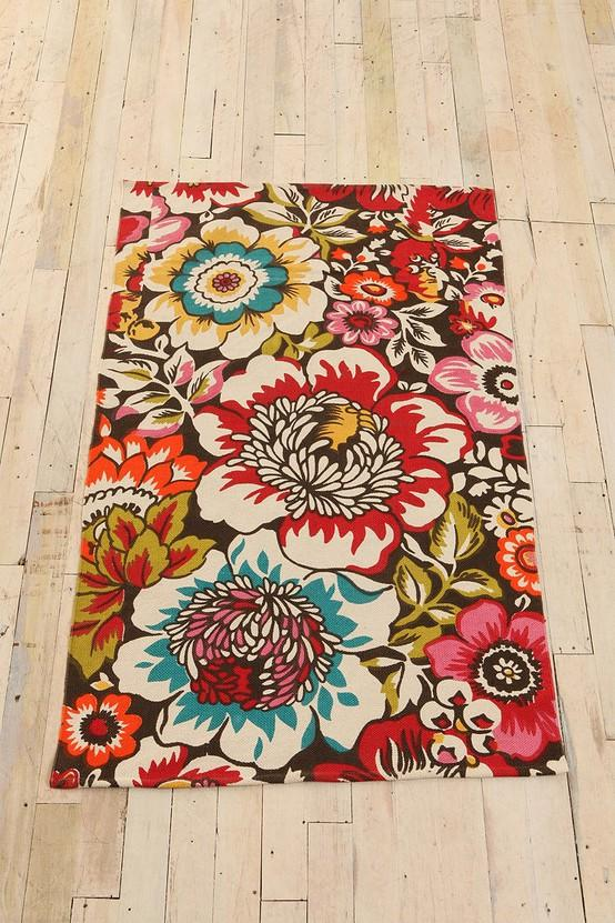 Wish List / UrbanOutfitters.com > Big Garden Printed Rug