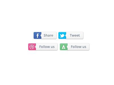 Share Social icons for Pokki website / UI by Justalab (via Julien Renvoye)