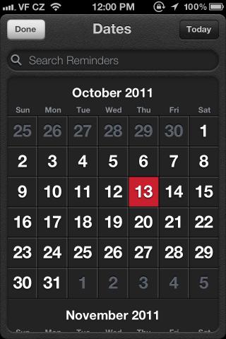 Calendars / iOS UI Patterns (beta)