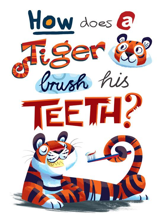 How does a tiger brush? by ~peridott