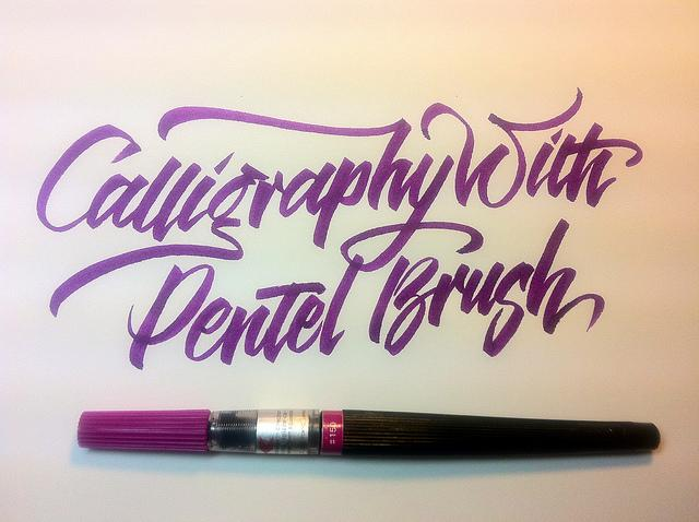 Pentel pointed brush | Flickr - Photo Sharing!
