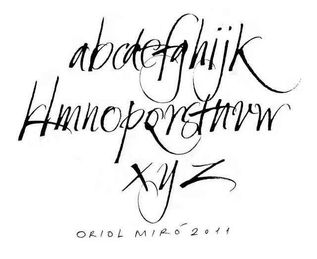 Alfabet de tiraxinos. Ruling pen alphabet   Flickr - Photo Sharing!
