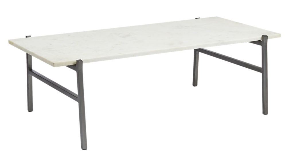 Slab marble coffee table cb2 575296 on wookmark for Cb2 round coffee table