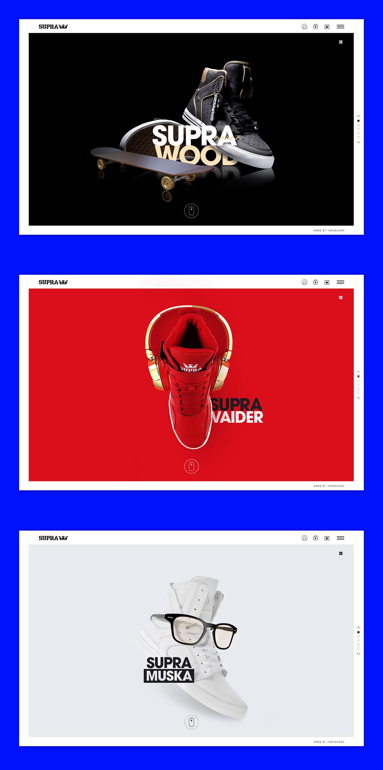 The Supra Footwear Website | Abduzeedo Design Inspiration