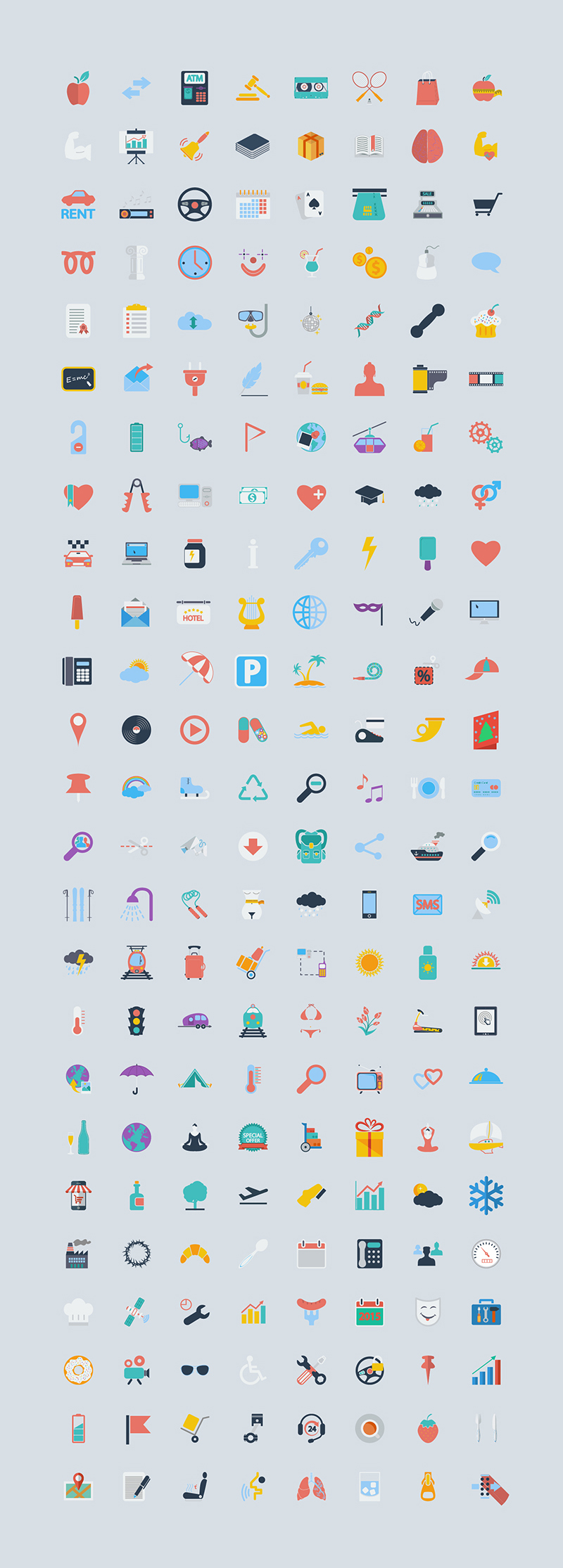 400 Free Icons of the World - Graphic Google - Tasty Graphic Designs Collection