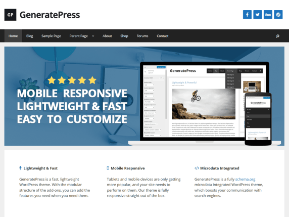 GeneratePress — ??? WordPress ???