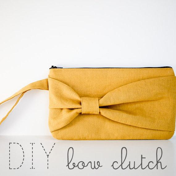 elm street life: DIY: Bow clutch sewing tutorial.